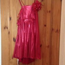 Beautiful Red  Girl's Sleeveless  Dress  For Special Occasions, 170 Cm