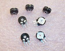 QTY (35) 100 Ohm 10mm VERTICAL MOUNT CARBON POTENTIOMETERS  PIHER