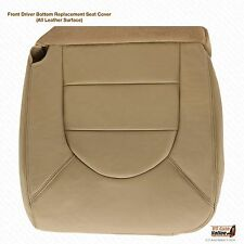 2000 Ford F-250 F-350 Lariat Driver Bottom Replacement Leather Seat Cover in Tan