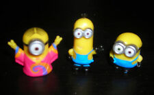 """DESPICABLE ME MINIONS LOT OF THREE 1"""" TOY FIGURES CAKE TOPPERS"""