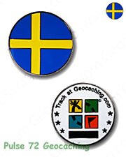 Swedish Flag - Sweden - Micro Geocoin For Geocaching