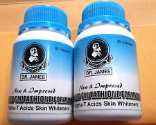 2 BOTTLES 100% Original Dr James Glutathione Herbal Skin Whitening Pills