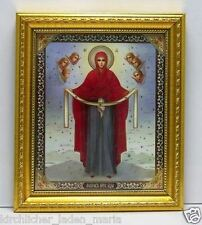 """Icon Veil of our Lady consecrated икона Богородица Покров  8.3x7.1x0.6"""""""