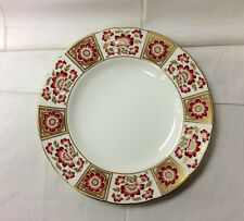 """ROYAL CROWN DERBY """"DERBY PANEL RED"""" DINNER PLATE 10 1/2"""" BONE CHINA ENGLAND"""