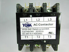 Definite Purpose Contactor 60AMP/3Pole/24Volt New Heat Pump, A/C Refrigeration