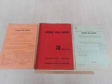 MANUALE ORIGINALE 1968 + ALLEGATI '69 '-71  ALFA ROMEO GIULIA SPIDER 1300 JUNIOR