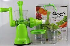 Shreeji The Grand Juicer - Manual Juicer - Vegetable, fruit, Augar