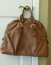 GUIA'S LUGGAGE BROWN LEATHER DOME SATCHEL PURSE ITALY LARGE HANDBAG $398!