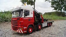 "WSI  SCANIA R Highline Palfinger 92002 SH + Jib (Single truck)  ""Wagenborg"" 1:50"