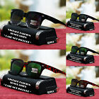 Vintage Fashion Rectangular Sunglasses Classic Style Retro Shades New Mens Black