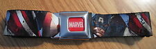 The Avengers Captain America Buckle-Down Belt Marvel Comics ADJUSTABLE! RED BLUE