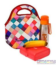 GO GOURMET LUNCH BAG Tote Food Storage Container Insulated Neoprene HARLEQUIN