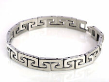 New Silver Mens Cool Stainless Steel Chain Braclet link Bangle Wristband Band