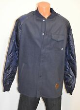 New $160 Burton Snowboards Ackley Flannel Down Night Rider Blue Ski Jacket