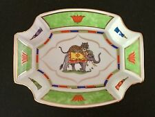 LYNN CHASE porcelain octagonal tray serving bowl TIGER RAJ - 24K gold - MINT!!
