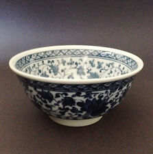 "2 PCS. 6"" Japanese Chinese Rice Soup Noodle Bowl Blue White Ajisai Made in Japan"