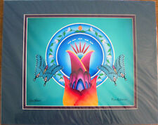 """Art Print Authentic Native American  """"Circle of Life""""  20x16"""" matted New"""