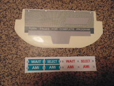 JUKEBOX AMI WQ200 WALLBOX  RESTORE KIT  PLATE  OVERLAY COIN PLASTICS SELECTION