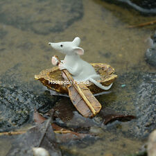 Miniature Mouse Rowing Boat # 4469  Fairy Garden Dollhouse