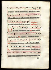 German Gregorian Chant Music Leaf Antiphonal 1499 1st Edition Missal The Kyrie