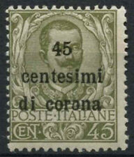 Austrian Terri. Acquired Italy 1919 SG#72 45c di c On 45c Olive Green MNH #D9100