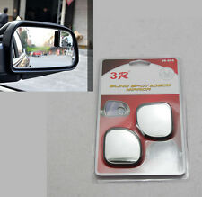 2PCS Universal Square Blind Spot Rear View Mirror Rotatable Convex Mirror