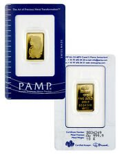 PAMP Suisse 10 Gram .9999 Gold Bar - Fortuna With Assay Certificate SKU29097