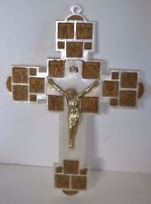 Vintage Plastic Altar Station of the Cross Wall Crucifixes