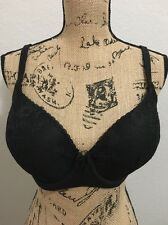 34DDD Body by Victoria's Secret Black Lace Lined Demi Underwire Bra, NWOT