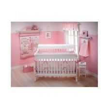 3-Piece Crib Bedding Set Comforter Baby Blanket Girls Pink Princess Nursery Home