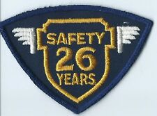 Greyhound Bus, driver patch, 26 Safety years felt cheesecloth back 3 X 4-1/4