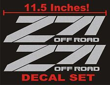 Z71 Truck Bed Decals, Silver Metallic (Set) for Chevrolet Silverado