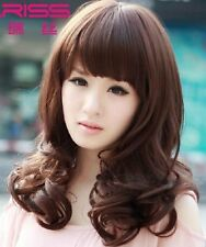 100% Real hair! New Korean Fashion In the long fluffy Dark brown Really Hair wig