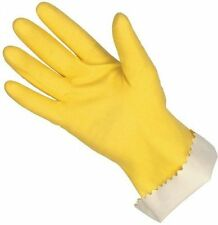 """12 MCR Safety 5250XL 12"""" Flock Lined Latex Seamless Rubber Gloves Yellow X-LARGE"""