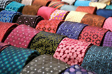LOT 150 HUGE BULK DESIGNER MENS NECKTIES SILK CRAFTS QUILTS POLYESTER VINTAGE