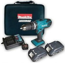 Makita litio 18v Cordless Combi Drill x2 batterie, caricabatterie, CASE, KIT COMPLETO