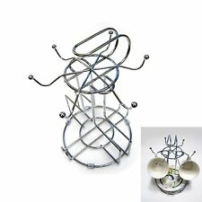New TOF Stainless Steel Coffee Cup with Plate Rack Tea Time Serving Tray Holder