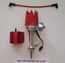 small cap BIG BLOCK MOPAR 1959-78 383 400 PRO SERIES HEI RED Distributor & Coil