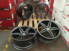 "4 x 18"" BRAND NEW BBS LM B1 STYLE ALLOYS AND TYRES FOR BMW 3 SERIES E46 GUNMETAL"