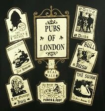 Pubs of London T shirt XL, Mens, British, UK, sherlock