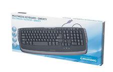 GRUNDIG Edel Tastatur Multimedia Englisch QWERTY Schwarz USB Keyboard Computer
