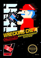 Nintendo Nes WRECKING CREW Black Box Cover Fridge Magnet Game Room Decor