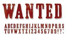 Tim Holtz Alterations Decorative Strip Die - Wanted Alphabet