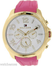 Tommy Hilfiger 1781389 Serena White Dial Rubber Strap Women's Watch