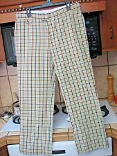 Penguin Musingwear plaid golf vintage retro style pants new without tags 34 x 29