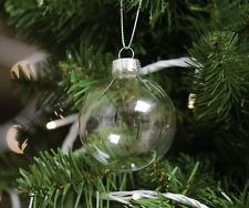 12 Christmas Glass Baubles, 6cm, Tree Decoration, Christmas Tree Bauble
