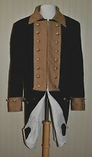 Revolutionary War Continental Army Frock Coat Blue w/Brown Collar - Size 40