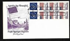 #1893a Flag over Mountains Artmaster FDC Bkt Pane of 8