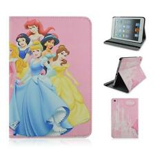 Cartoon Disney Princess Stand PU Leather tablet case cover for Ipad mini 1/2/3