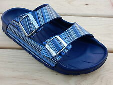 BIRKI's  HAITI  Striped Navy  SANDALS  BOYS  SIZE 2 Regular  EURO 33    NEW
